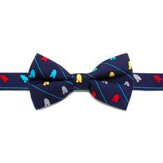 R2D2 Striped Big Boys' Silk Bow Tie