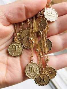 12 Constellations Libra Pendant Necklace Vintage Bronze Chain Statement Necklace Handmade Jewelry Gifts