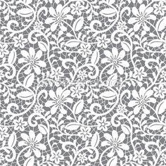 encaje blanco transparente — Ilustración de stock #13266323