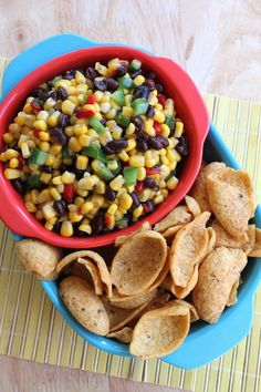 Easy Corn Salsa #recipe by the Spiffy Cookie #CWcolor