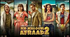 First Look Of Na Maloom Afraad 2 Film Poster! Characters #javedSheikh #UrwaHocane #FahadMustafa #HaniaAmir #MohsinAbbasHaider Yes They Are Back With The Biggest #Maddness Of #Entertainment #NaMaloomAfraad2 #PakistaniFilms #ReleasingEidUlAzha2017