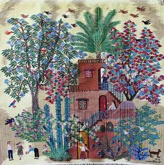 Tapestry from Ramses Wissa Wassef Art Centre in Egypt, artist unknown