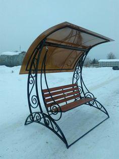 Diy Garden Furniture, Office Furniture Design, Iron Furniture, Diy Outdoor Furniture, Steel Furniture, Outdoor Decor, Wrought Iron Headboard, Wrought Iron Chairs, Canopy Swing