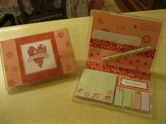 Stampin Up clear mount case as notepad case