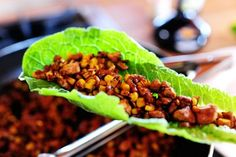 Vegetarian lettuce wraps that'll rock your world if you're into tofu. (It might even rock your world if you don't think you're into tofu!)