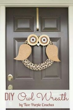 Twit twoo   Diy Fall WreathAutumn WreathsFall Classroom DoorOwl Wreaths Country WreathsCountry Living  Country Living Magazine inspired DIY Owl Wreath via www  . Door County Living Classrooms. Home Design Ideas
