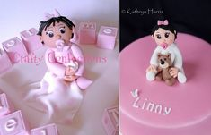 baby girl model baby girl cake topper by Crafty Confections, Kathryn Harris Photography