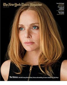 "Stella McCartney by Damon Winter on this new cover New York Times Mag: ""The Heiress"""