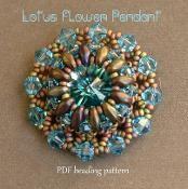 Lotus Flower Pendant - via @Craftsy