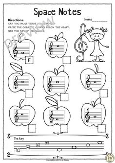 This set of 10 Music worksheets Back to School themed is designed to help your students practice identifying Treble pitch.All activities require no preparation Learning Music Notes, Music Education, Music Theory Worksheets, Elementary Music Lessons, Middle School Music, Piano Recital, Violin Lessons, Piano Teaching, Music Activities