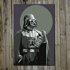 Darth 11x17, $18, now featured on Fab.