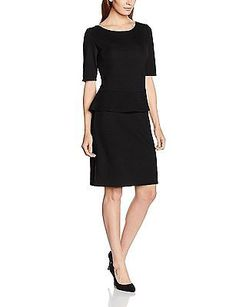 16, Schwarz (black 9999), s.Oliver BLACK LABEL Women's 11.608.82.5294 Dress NEW