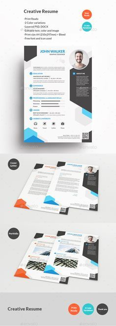 Creative Resume Template PSD DOCX More