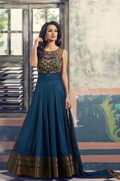 Blue Georgette with Net Anarkali Salwar Kameez | Add Share Sale