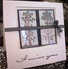 I Miss You Seasons using Stampin Up A Tree for All Seasons retired stamp set