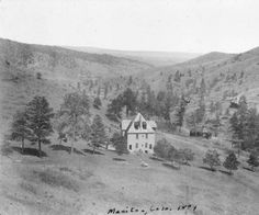 House on the hill in a canon near ~ Manitou Springs Colorado ~ 1884