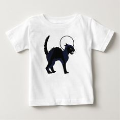 Halloween Ornate Black Cat & Moon - Jersey T-Shirt