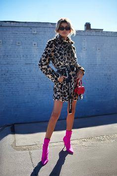 08890b3d9f67 Leopard Print Faux Fur Coat Printed Leggings Outfit, Leopard Print  Leggings, Leopard Fur Coat