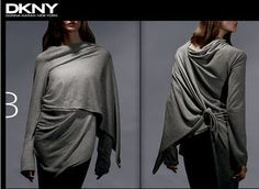 12 Ways Of Wearing DKNY Cozy, this one is super cute, must try!