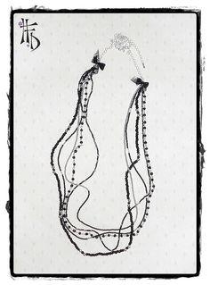 GARDEN. Collar largo de rocalla. por HaveaFlowerDay en Etsy. Long necklace of beads