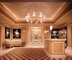 The Wedding Salons at Wynn Las Vegas' reception is ready to welcome you and your guests.