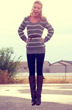 like the belt on the sweater idea