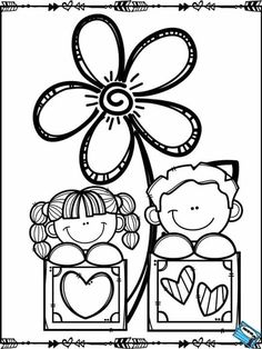Colouring Pages, Coloring Sheets, Coloring Books, Coloring For Kids, Adult Coloring, Valentine Coloring Pages, School Clipart, Mom Day, Mothers Day Crafts