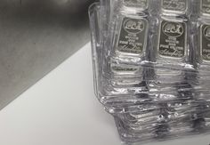 1 oz Silver bars for sale: Buy Stunning, Authentic Bullion Online - Money Metals Exchange LLC Bullion Coins, Silver Bullion, Coin Prices, Gold Money, Silver Bars, Silver Coins, Precious Metals, Shot Glass, Investing