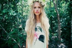 The Wildfox Lagoon Spring 2014 boho style Foto Fun, Mode Boho, Vintage Inspired Outfits, Messy Hairstyles, Spring 2014, Wildfox, A Team, Her Hair, Boho Chic