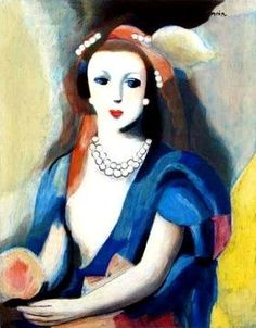 La femme a la rose ~ Marie Laurencin - French painter (1883-1956)