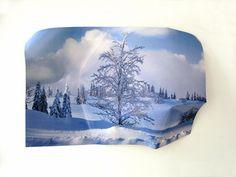 Pierre Ardouvin  Paysage 3D, photographie couleur contrecollée sur aluminium, 75 x 55 x 21cm ., 2007.