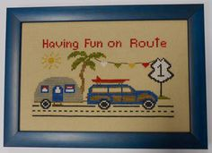 Route 1 - Cross Stitch Pattern