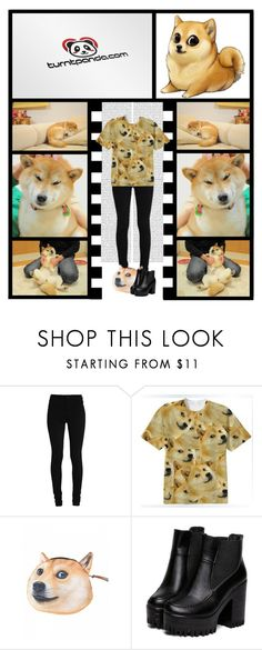 """""""Turnt Panda Boutique (30)"""" by irresistible-livingdeadgirl ❤ liked on Polyvore featuring StreetStyle, funny, outfit, meme and doge"""