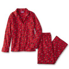 Look forward to bedtime with the comfy fit of these women s flannel pajama  top and pants c4bd68731