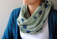 """For that last-minute """"I need a one-of-a-kind gift, like right now!"""" present, this hand-stamped, no-sew knit scarf is just the thing."""