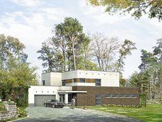 Projekt domu Apollo 2 (239,60 m2) to nowoczesny dom z płaskim dachem i…