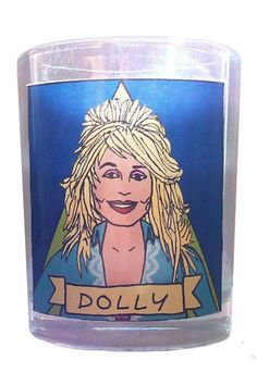 Dolly Parton Glass Votive Candle: http://shop.nylon.com/collections/whats-new/products/dolly-parton-glass-votive-candle #NYLONshop
