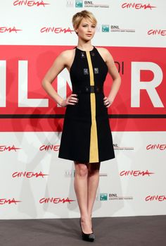 Jennifer Lawrence at a photo call for Catching Fire in Rome