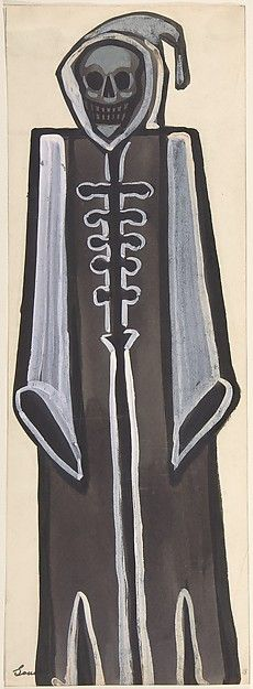 Sergey Sudeykin (Russian, 1882–1946). Death wearing a black robe, first half 20th century. The Metropolitan Museum of Art, New York. Gift of William S. Wasserman, 1965 (65.715.14(1)) #Halloween