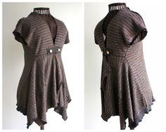 Womens Clothing Sweater Vest Jacket Upcycled Top by MargoSueStudio, $45.00