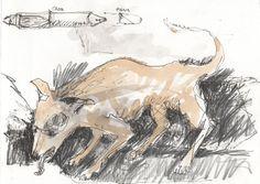 LUIS DESENHA: Cão com sede.