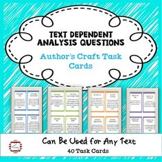 ELA Test Prep Text Dependent Analysis... by Anchored in Reading | Teachers Pay Teachers