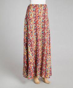 Look at this #zulilyfind! Raspberry Drizzle Maxi Skirt #zulilyfinds