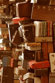TOWER OF LUGGAGE by Teresa Chipperfield Studios