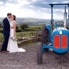 Gorgeous photo of Debbie and Adam and I must admit our #vintagetractor looks great too!