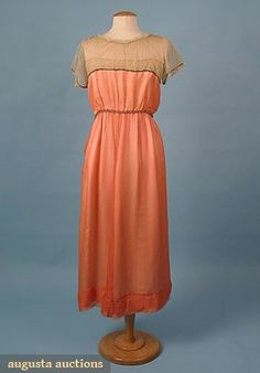 Party Dress w/ Caftan (image 3)   House of Worth   France; Paris   1918   silk chiffon   Augusta Auctions   March-April 2005/Lot 650