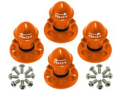 Mach 25 parts are in stock now!!  All colors!  Rakon CNC AL Propeller Adapter and Nut Set - Blade Mach 25 ORANGE All The Colors, Cnc, Blade, Barware, Orange, Drinkware