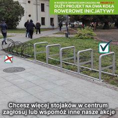 Plac Lecha Kaczyńskiego. Pojawiły się nowe stojaki. #rower #lublin