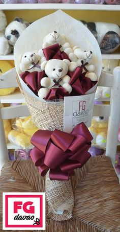 4pc Maroon Themed Bear Bouquet  Flowers Gifts Delivery 0998 579 5720  www.FGDavao.com    #bears #bearbouquet #gift #giftshop #stuffedtoybouquet #stuffedtoys #tinybears #giftsph #sendgifts #giftdelivery #arts #crafts #fg #fgdavao #davao #shop #ph