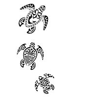 Hawaiian Honu (turtle) Tattoo.  I modified the top two for my left thigh.  Might have to add the third little guy someday.